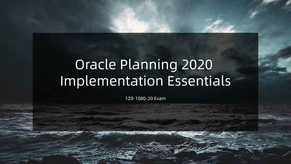 Oracle 1z0-1080-20 exam
